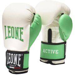 Боксерские перчатки Leone Active - белый/зеленый