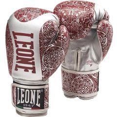Боксерские перчатки Leone Maori - белый/красный