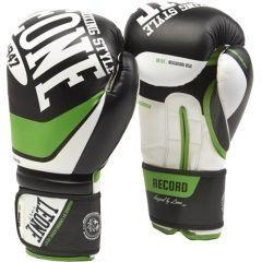Детские боксерские перчатки Leone Record - белый/зеленый/черный