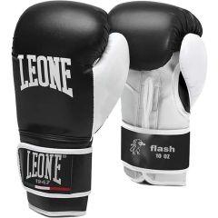 Боксерские перчатки Leone Flash - черный/белый
