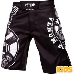 Детские мма шорты Venum Born To Fight - черный/белый