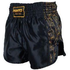 Шорты для тайского бокса Manto Fists - черный