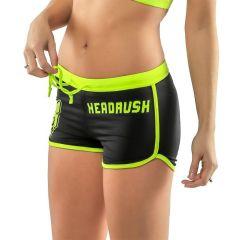Женские спортивные шорты Headrush - черный/салатовый