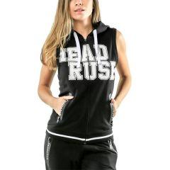 Женская кофта-худи без рукавов Headrush R.F.L. Crop - черный