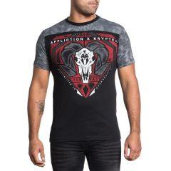 Футболка Affliction Bighorn - черный/красный