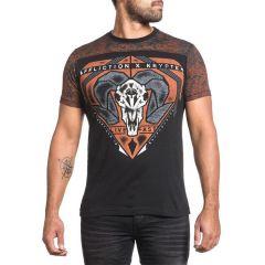 Футболка Affliction Bighorn - черный/оранжевый