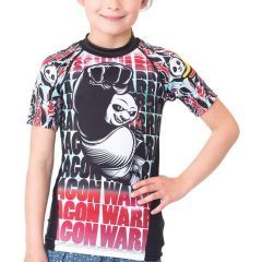 Детский рашгард Fusion Kung Fu Panda Dragon Warrior - черный/красный