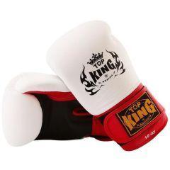 Перчатки боксерские Top King Boxing Ultimate - черный/белый/красный