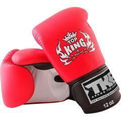 Перчатки боксерские Top King Boxing Ultimate - белый/красный
