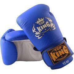 Перчатки боксерские Top King Boxing Ultimate - синий/белый