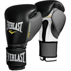 Боксерские перчатки Everlast Powerlock - черный/серый
