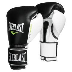Боксерские перчатки Everlast Powerlock - черный/белый