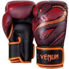 Боксерские перчатки Venum Snaker - черный/бордовый