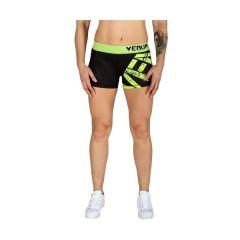 Женские компрессионные шорты Venum Gladiator Bodycombat - черный/салатовый