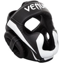 Боксерский шлем Venum Elite - черный/белый