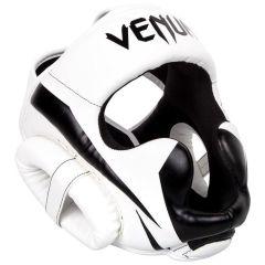 Боксерский шлем Venum Elite - белый/черный