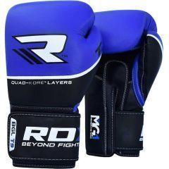 Боксерские перчатки RDX BGL T9 - черный/синий