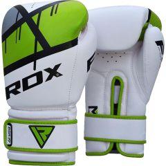 Боксерские перчатки RDX BGR F7 - белый/зеленый