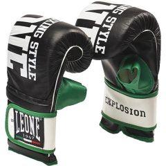 Снарядные перчатки Leone Contact - черный/зеленый
