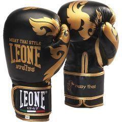 Боксерские перчатки Leone Muay Thai - черный/золотой