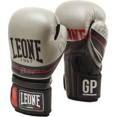 Боксерские перчатки Leone The Doctor - черный/серый