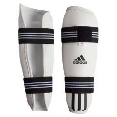 Защита голени для тхэквондо Adidas WTF Shin Pad Protector белая