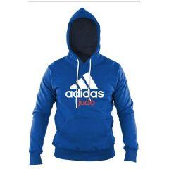 Толстовка с капюшоном (Худи) Adidas Community Hoody Judo сине-белая