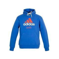 Толстовка с капюшоном (Худи) Adidas Community Hoody Judo сине-оранжевая