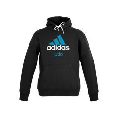Толстовка с капюшоном (Худи) Adidas Community Hoody Judo черно-синяя
