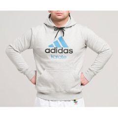 Толстовка с капюшоном (Худи) Adidas Community Hoody Karate серо-голубая
