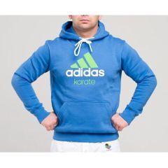 Толстовка с капюшоном (Худи) Adidas Community Hoody Karate сине-зеленая