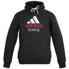 Толстовка с капюшоном (Худи) Adidas Community Hoody Boxing черно-белая