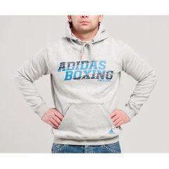 Толстовка с капюшоном (Худи) Adidas Graphic Hoody Boxing серая