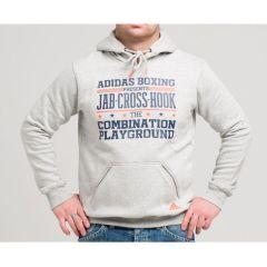 Толстовка с капюшоном (Худи) Adidas Graphic Hoody Slogan Boxing серая
