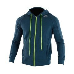 Толстовка с капюшоном (Худи) Adidas Train Hoodie Speedline сине-желтая