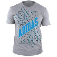 Футболка Adidas Graphic Tee Belt серо-голубая