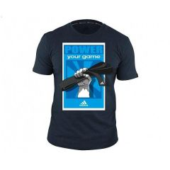 Футболка Adidas Graphic Tee Power черно-синяя