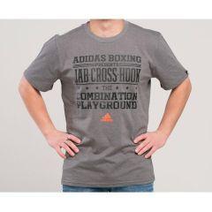 Футболка Adidas Graphic Tee Slogan Boxing темно-серая
