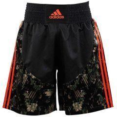 Шорты боксерские Adidas Micro Diamond Multi Boxing Short черно-камуфляжные