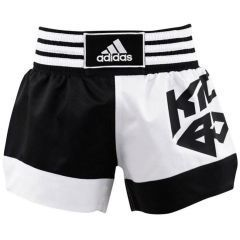 Шорты для кикбоксинга Adidas Micro Diamond Kick Boxing Short бело-черные