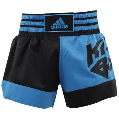 Шорты для кикбоксинга Adidas Micro Diamond Kick Boxing Short сине-черные