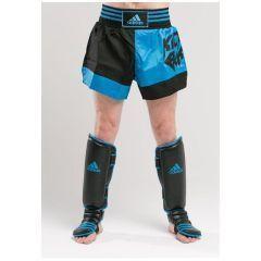 Шорты для кикбоксинга Adidas Micro Diamond Kick Boxing Short сине-черные
