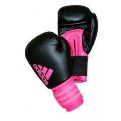 Перчатки боксерские Adidas Hybrid 100 Dynamic Fit черно-розовые