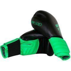 Перчатки боксерские Adidas Hybrid 100 черно-зеленые