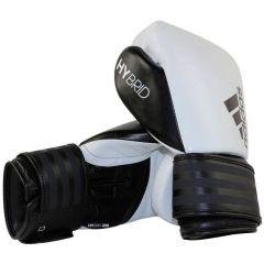 Перчатки боксерские Adidas Hybrid 200 бело-черные