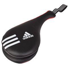 Ракетка для тхэквондо двойная Adidas Kids Double Target Mitt красно-черная