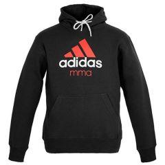 Толстовка с капюшоном (Худи) Adidas Community Hoody MMA черно-оранжевая