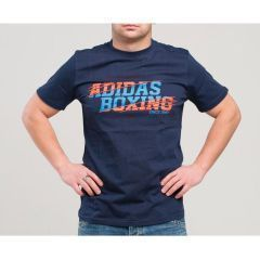 Футболка Adidas Graphic Tee Boxing темно-синяя