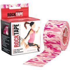 Кинезио тейп RockTape, 5см х 5м, розовый камуфляж