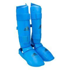 Защита голени и стопы Adidas WKF Shin & Removable Foot синяя